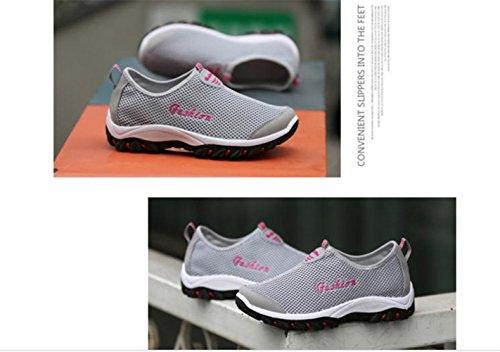 Lisyline Women Mesh Breathable Quick Drying Slip On Aqua Water Shoes Lightgray 74tcN