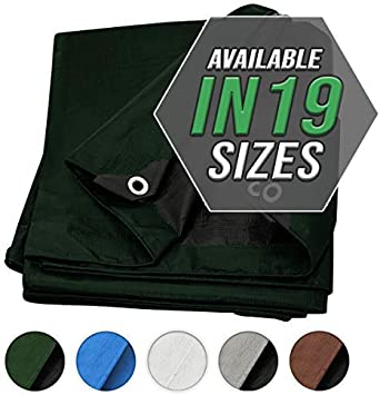 Tarp Cover Brown//Black Heavy Duty 8X10 Thick Material RV Or Pool Cover 8X10 Heavy Duty Poly Tarp Brown//Black Great for Tarpaulin Canopy Tent Waterproof Boat