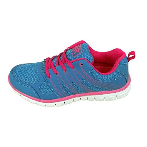 Gym Course Pour Jogging De Fille Bleu Les Femmes Absorbant Shoe Chocs Trainer Chaussure Pied Fitness 5tv44q