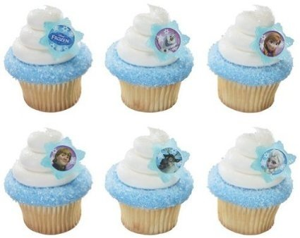 Quantumchaos 36 ~ Disney Frozen Adventure Friends Rings ~ Designer Cake/Cupcake Topper ~ -