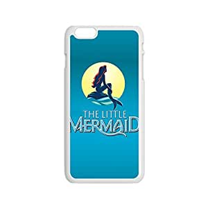 Amazing Painting Design with The Little Mermaid Thin & Strong Plastic Shell Cover for iPhone 5s -White05s2810