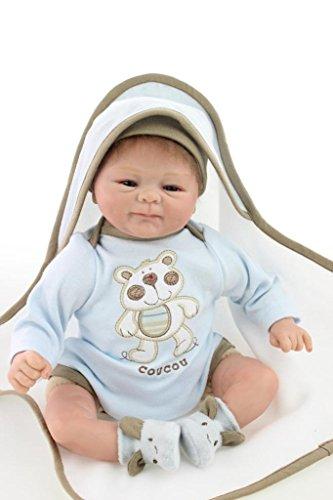 SanyDoll Reborn Baby Doll Soft Silicone vinyl 18 inch 45 ...