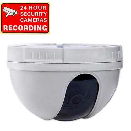 VideoSecu Color CCD CCTV Dome Security Camera 420TVL 3.6mm Wide View Angle Lens for DVR Home Surveillance System 1CZ