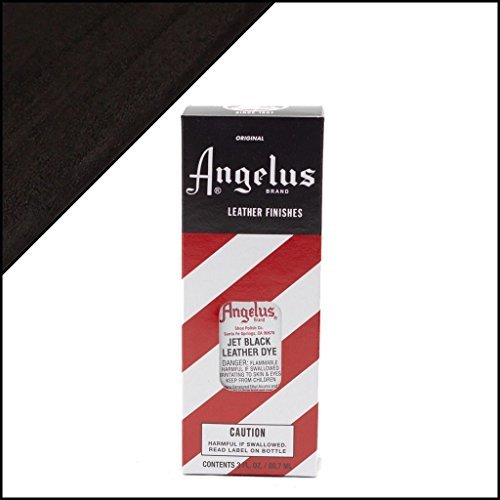 (Angelus Brand Leather Dye W/applicator - 3 Oz ''Jet Black'')