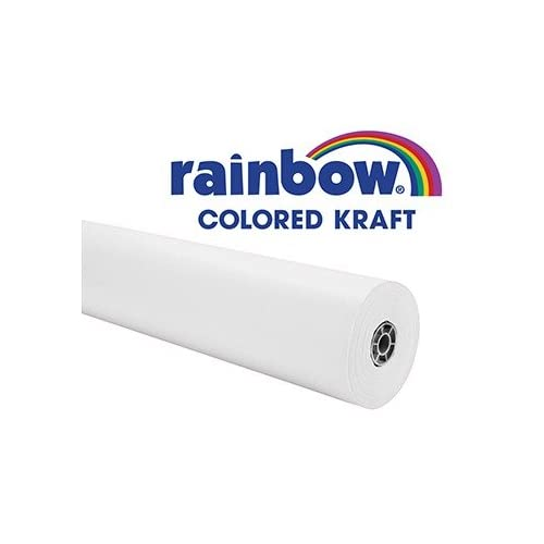 "Rainbow Kraft 0066001 Paper Roll Duo-Finish, Fiber, Light-Weight, 40 lb., 36"" x 100' Size, 36.8"" Height, 2.8"" Width, 2.8"" Length, White"