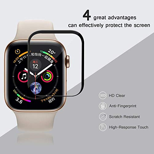 Price comparison product image Shaoshao 2Pcs Apple Watch Series 4 Full Coverage Tempered Glass Screen Protector 44mm