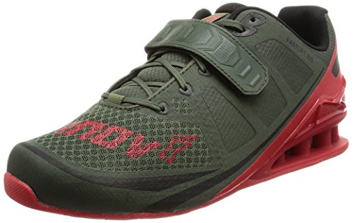 Inov-8 Men's Fastlift 325 Cross-Trainer Shoe, Dark Green/Red, 11.5 E US
