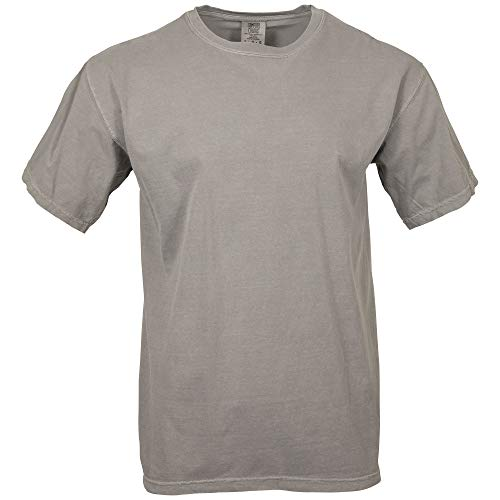 Comfort Colors Men's Adult Short Sleeve Tee, Style 1717, Grey, Large