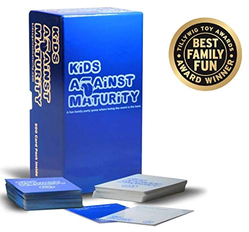 Kids Against Maturity! A Super Fun Hilarious Card Game for Kids, The Best Party Game for Family Game Night, Card Game for Humanity, Child-Friendly ()
