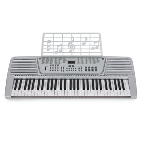 61 Key Electronic Music Keyboard Gift Electric Piano Organ 61 Silver Musical Intruments