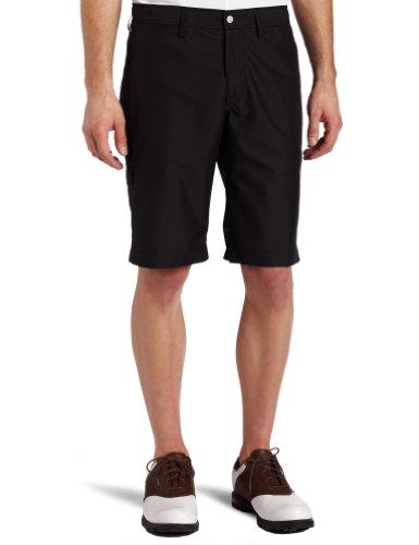 J.Lindeberg Golf Mens Trent Regular Micro Twill Shorts, Black, 33