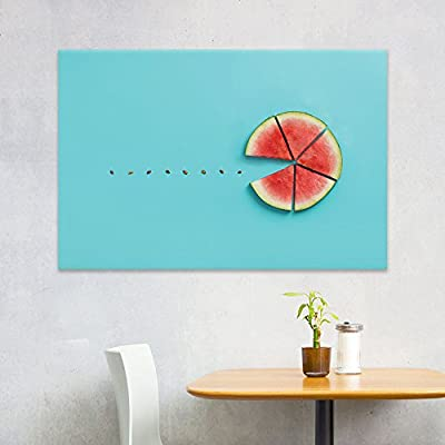 Canvas Wall Art - Watermelon Slices and Seeds - Giclee Print Gallery Wrap Modern Home Art Ready to Hang - 24x36 inches