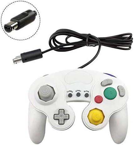 JBER Gamecube - Controlador para Nintendo Switch/Wii U/Wii/PC (2 Unidades, Cable clásico, para conmutador PC Wii u con función Turbo, Color Blanco y Negro): Amazon.es: Electrónica