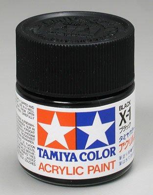 Tamiya Acrylic X1 Gloss,Black TAM81001