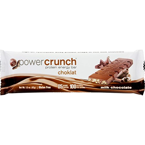 Power Crunch Bar – Chocolate Milk – Case of 12 – 1.4 oz by Power Crunch