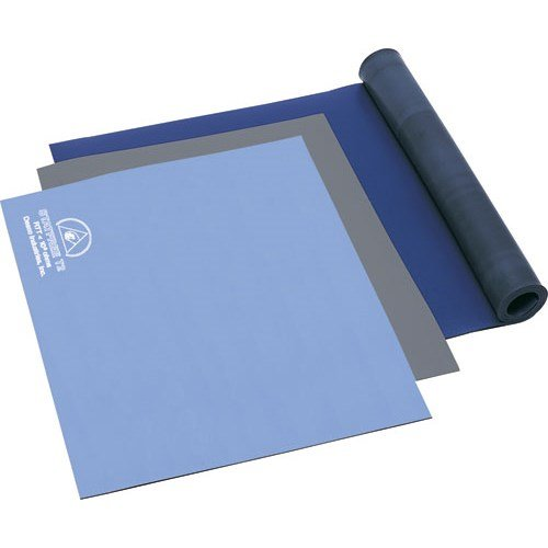 Desco 66075 Statfree Type T2 Two Layer Rubber Mat Roll, Blue, 36'' x 40' by Desco