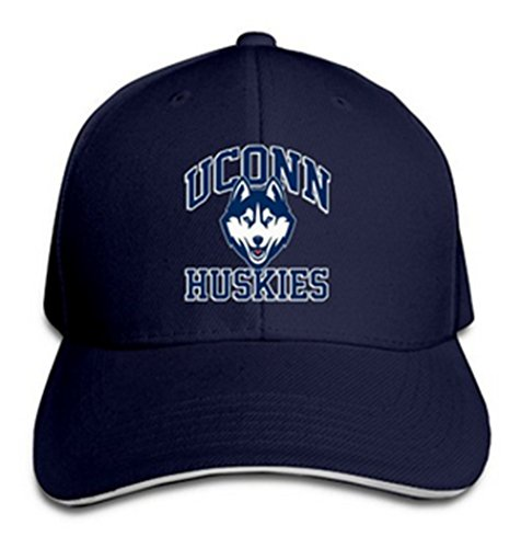 Unisex UConn Huskies Fantastic Adjustable Sandwich Peaked Sport Cap Hat (Navy)