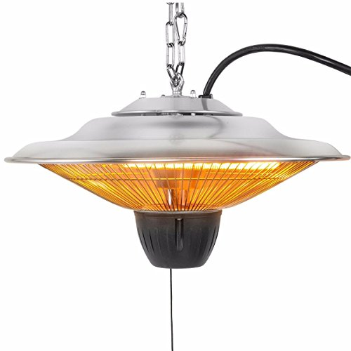 17'' Electric Patio Infrared Outdoor Ceiling Heater Indoor Tent Hanging Garden by Unknown