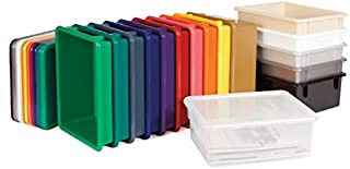 product image for Jonti-Craft 40310JC 30 Tub Mobile Storage with Clear Bins