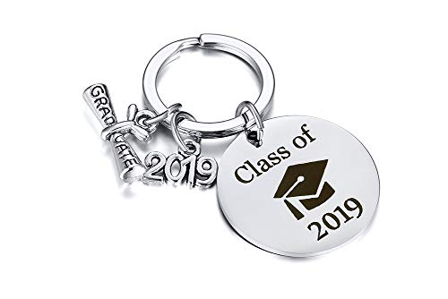 XUANPAI Class of 2019 Keychain College Sorority Graduation Grad Gift for Him or Her Friendship Boy Girl