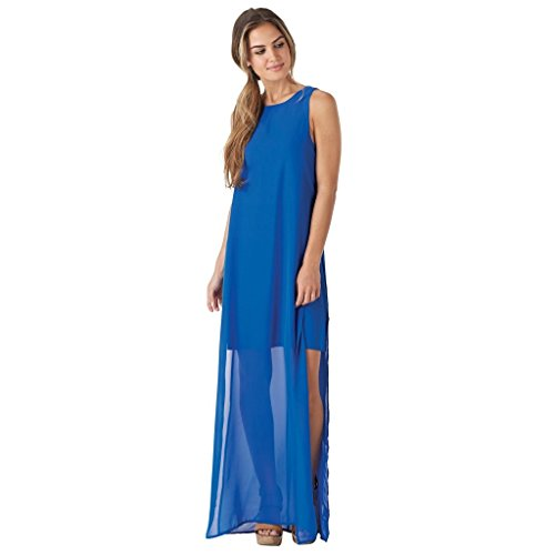 Mud Pie Women Fashion Lapis Blue Gina Maxi Dress (Large) ()