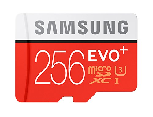 Samsung EVO+ 256GB UHS-I microSDXC U3 Memory Card with Adapter (MB-MC256DA/AM) by Samsung