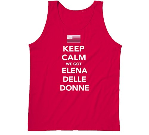 Elena Delle Donne Keep Calm Team Usa 2016 Olympics Basketball Tanktop S Red
