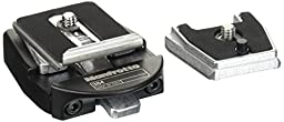 Manfrotto 384 Dove Tail Rapid Connect Adapter with 384PL-14 Plate (Black)