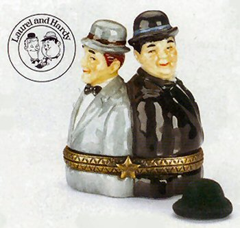 Laurel and Hardy Porcelain Hinged Box PHB Midwest of Canon Falls