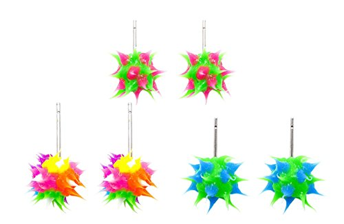 Frogsac Spikeez Trio Spiky Silicone Stud Earring Sets (6)