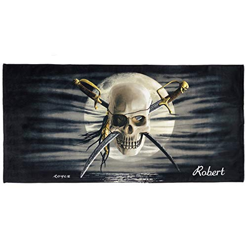 Kaufman - Personalized Kids Patch Skull Beach and Pool Towel 30