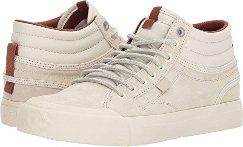 DC Women's Evan HI LE Skate Shoe, Cream, 8 B B US