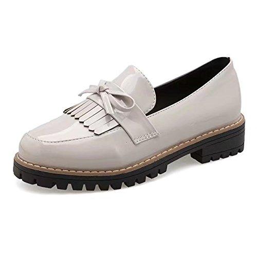 saisons Chaussures Chaussures ronde décontractée lumière femme à XXM Shoes Chaussures Femme Femme pour Tête Blanc plat Chaussures quatre femme 37 élégance des pour Femme avec de chaussures cpqPPI