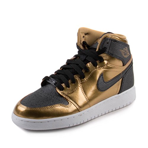 Jordan Air 1 Retro Big Kids Shoes Metallic Gold/Black-White 909805-700 (6.5 M US)