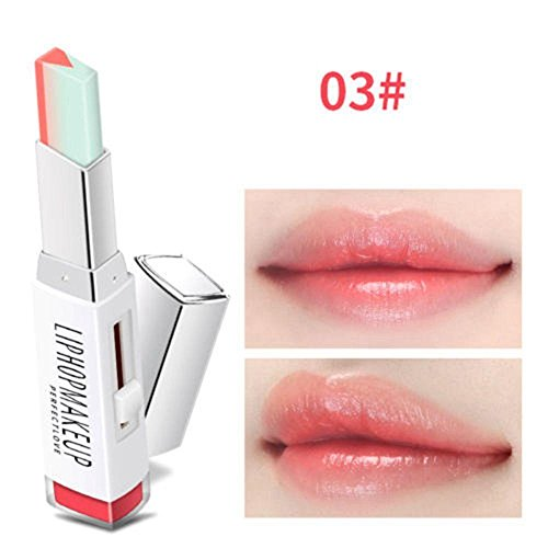 Oceaneshop New Waterproof Moisturizing Gradient Color Duo Lip Balm Lipgloss Two Tone ()