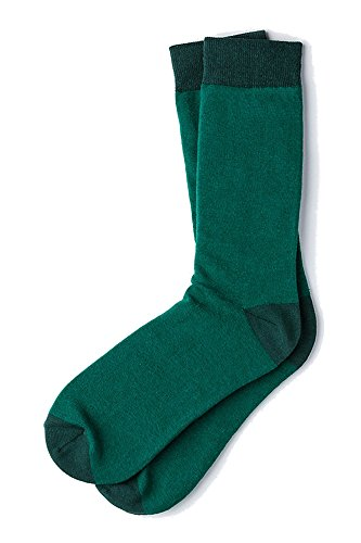 Men's Classic Hollywood Luxury Solid Hipster Crew Dress Socks (Hunter Green)