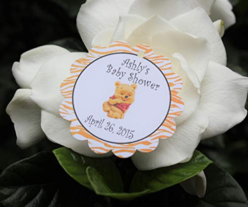 - Set of 10 Winnie the Pooh baby Shower Party Favor Tags