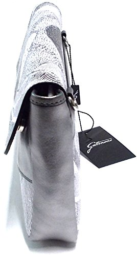 Gattinoni femmes Bourse Pochette Main e Bandoulière Criseide Clutch 13 Cm 30x17x4 Gri/Bia/Noir G14FLWG43048-385