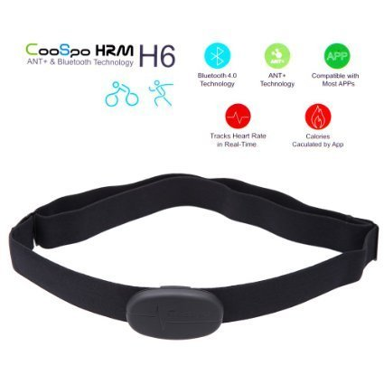 Anself CooSpo H6 ANT Bluetooth V4.0 Wireless Sport Heart Rate Monitor Smart Sensor Chest Strap for iPhone 4S 5 5S 5C 6 6Plus iPad Wahoo Fitness Fitcare (Heart Rate Sensor For Iphone compare prices)