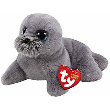 2939e12c6a8 TY Beanie Babies - Wiggy Baby Seal - Soft Toy 15 cm  Amazon.co.uk  Toys    Games