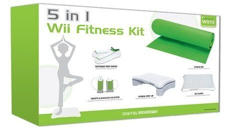 Digital Gadgets 5 in 1 Nintendo Wii Fitness Accessory Kit Exercise Yoga Mat Green