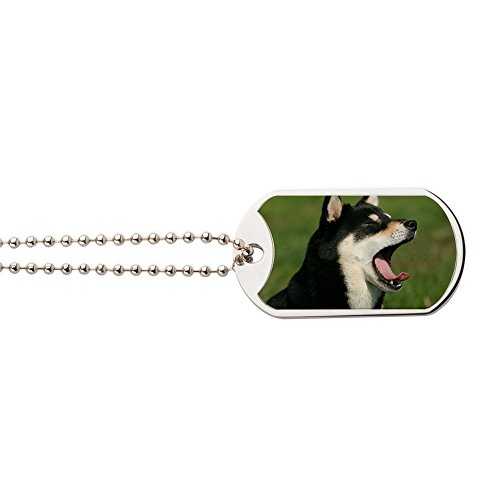 CafePress - Shiba_Pc - Military Style Dog Tag, Stainless Steel with Chain ()