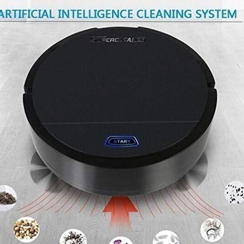 Mdsfe Robot Aspirateur Multifonctionnel Robot de Balayage Intelligent pour Poils d'animaux Domestiques et Sol Dur Aspirateur de Balayage Humide Sec Maison - Noir, A5