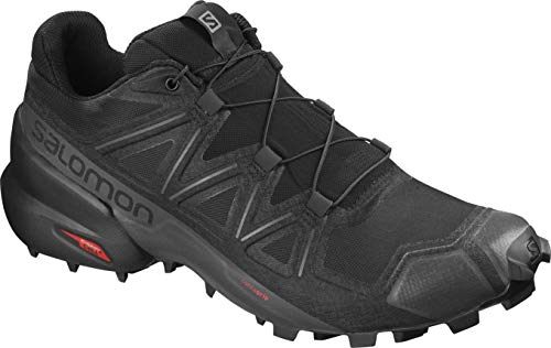 Salomon Men's Speedcross 5 Trail Running Shoes, Black/Black/PHANTOM, 10.5