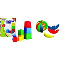 Funskool Giggles Stacking Cubes + Activity Ball