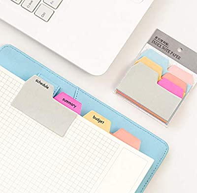 Divider Sticky Notes, Index Self Sticky Notes, 6 Colors Paper Tabs, Mark Pages Sticky Notes for Office, School and Home, 90 Blank Notes per Pack (2 Pack)