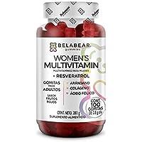 Women's Multivitamin + Resveratrol 100 Gomitas Sabor Frutos Rojos Multivitaminas para Mujeres Solanum