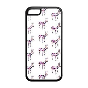 Custom Fawn Design Rubber TPU Case Cover For Iphone 5C