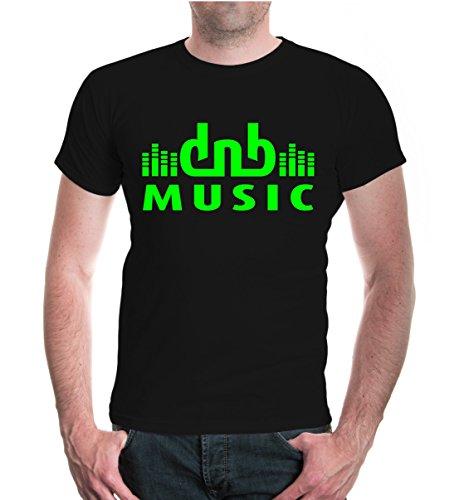 T-Shirt DnB Music-XXL-Black-Neongreen