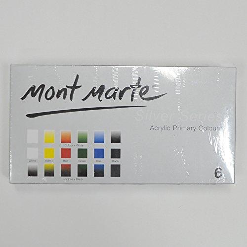 Mont Marte Satin Series Primary Acrylics paint Art Set 75ml 6pce